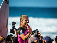 Snapper Rocks, Coolangatta, Queensland Australia. (Tuesday March 11, 2014) Stephanie Gilmore (AUS) won the Roxy Pro.–  The swell  was in the 3'-6' range all day and the Quiksilver Pro was completed right on dark with Gabriel Medina (BRA) defeating local favourite Joel Parkinson (AUS) in the 35 minute final. Photo: joliphotos.com