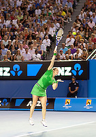 Kim Clijsters (BEL) (3) against Li Na (CHN) (9) in the Finals of the women's singles. Kim Clijsters beat Li Na 3-6 6-3 6-3..International Tennis - Australian Open  -  Melbourne Park - Melbourne - Day 13 - Sat 29th January 2011..© Frey - AMN Images, Level 1, Barry House, 20-22 Worple Road, London, SW19 4DH.Tel - +44 208 947 0100.Email - Mfrey@advantagemedianet.com.Web - www.amnimages.photshelter.com