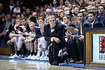 04 November 2016: Augustana head coach Tom Billeter. The Duke University Blue Devils hosted the Augustana University Vikings at Cameron Indoor Stadium in Durham, North Carolina in a 2016-17 NCAA Division I Men's Basketball exhibition game.