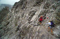 Adlerweg, Tirol, Austria, August 2005. the trail to Wurttemberger haus. The Adlerweg (eagles trail) is the new long distance hiking trail in Austria. The Adlerweg connects existing paths throughout Tirol, in the shape of an eagle, Tirol's provincial symbol. Photo by Frits Meyst/Adventure4ever.com