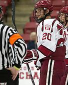 Adam Baughman (Harvard - 20) - The Harvard University Crimson defeated the US National Team Development Program's Under-18 team 5-2 on Saturday, October 8, 2016, at the Bright-Landry Hockey Center in Boston, Massachusetts.