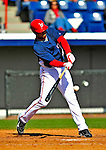3 March 2009: Washington Nationals' left fielder Jorge Padilla connects during a Spring Training exhibition game against Italy at Space Coast Stadium in Viera, Florida. The Nationals defeated Italy 9-6. Mandatory Photo Credit: Ed Wolfstein Photo