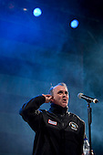 Ramstein AFB, Germany - December 16, 2008 -- Comedian John Bowman performs for service members during the 2008 USO Holiday Tour stop at Ramstein Air Force Base, Germany on Tuesday, December 16, 2008.  Tour host United States Navy Admiral Mike Mullen, chairman of the Joint Chiefs of Staff and his wife Deborah were joined by comedians Kathleen Madigan and Lewis Black; actress Tichina Arnold; American Idol contestant and country musician Kellie Pickler and Grammy award winning musician Kid Rock on the tour bringing joy to service members and their families stationed overseas..Credit: Chad J. McNeeley - DoD via CNP