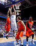 Josh Harrellson makes his first points of the game in the first half of UK's win over the Auburn Tigers at Rupp Arena on Jan. 11, 2011. Photo by Britney McIntosh   Staff
