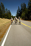OR:  Oregon; Crater Lake National Park, bicycling, model released           .Photo Copyright Lee Foster, lee@fostertravel.com, www.fostertravel.com, (510) 549-2202.Image orcrat208