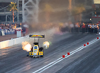Oct 28, 2016; Las Vegas, NV, USA; NHRA top fuel driver Leah Pritchett during qualifying for the Toyota Nationals at The Strip at Las Vegas Motor Speedway. Mandatory Credit: Mark J. Rebilas-USA TODAY Sports
