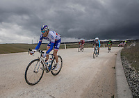 Thibaut Pinot (FRA/FDJ) is part of the early breakaway &amp; will be the only one to survive up front until the finale (finishing 9th)<br /> <br /> 11th Strade Bianche 2017