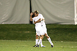 1 November 2006: Virginia's Nico Colaluca (8) gets a hug from teammate Adam Cristman (9) after Cristman's 23rd minute goal. Virginia defeated Clemson 2-0 at the Maryland Soccerplex in Germantown, Maryland in an Atlantic Coast Conference college soccer tournament quarterfinal game.