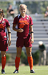 30 September 2007: Virginia Tech's Jennifer Harvey. The Duke University Blue Devils defeated the Virginia Tech University Hokies 1-0 in sudden death overtime at Koskinen Stadium in Durham, North Carolina in an Atlantic Coast Conference NCAA Division I Women's Soccer game.