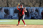 19 February 2017: Ohio State's Alex Vargas. The Ohio State University Buckeyes played the University of Louisville Cardinals at Anderson Family Softball Stadium in Chapel Hill, North Carolina as part of the ACC/Big 10 College Softball Challenge. OSU won the game 4-3.