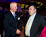First Minister Alex Salmond hosted a Scottish Sporting for Success Reception at the Botanical Gardens Edinburgh this evening bringing together sportsmen and women together to celebrate the nations successes in Sport. Mr Salmond chats with Former Masters champion Sandy Lyle.Pic Kenny Smith, Kenny Smith Photography.6 Bluebell Grove, Kelty, Fife, KY4 0GX .Tel 07809 450119,