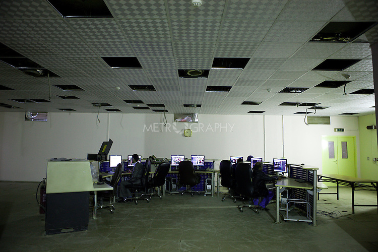 BAGHDAD, IRAQ: The control room at the  Midland Oil Company field.