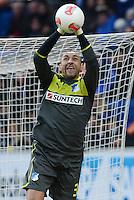 FUSSBALL   1. BUNDESLIGA   SAISON 2012/2013   20. SPIELTAG    TSG 1899 Hoffenheim  - SC Freiburg      02.02.2013 Torwart Heurelho Gomes (TSG 1899 Hoffenheim) mit Ball