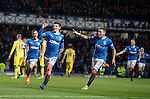 Emerson Hyndman scores the winning goal for Rangers and celebrates