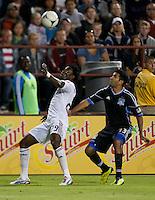 Santa Clara, California - Saturday July 14, 2012: Real Salt Lake vs San Jose Earthquakes at Buck Shaw Stadium. San Jose Earthquakes defeated Real Salt Lake 5 - 0.