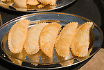Chile:  Food, empanadas, stuffed pastries, traditional cuisine.  .Photo #: ch489-32952.Photo copyright Lee Foster, 510-549-2202, www.fostertravel.com, lee@fostertravel.com.