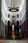 Europe, France, Lille. Lille Cathedral Nave.