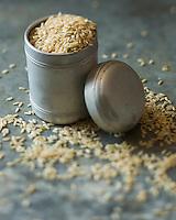 : France, Bouches-du-Rhône (13), Camargue, Riz Bio  de Camargue Long Complet //   France, Bouches du Rhone, Camargue, Camargue rice Organic Long complete