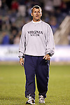 Steve Swanson, Virginia head coach, on Friday, November 4th, 2005 at SAS Stadium in Cary, North Carolina. The University of Virginia Cavaliers defeated the Florida State University Seminoles 2-0 in their Atlantic Coast Conference Tournament Semifinal game.