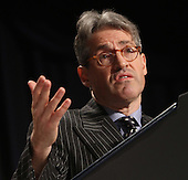 Author Eric Metaxas speaks to the National Prayer Breakfast in Washington, DC, February 2, 2012. .Credit: Chris Kleponis / Pool via CNP