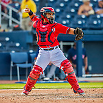 28 February 2017: Washington Nationals catcher Jhonatan Solano in action during the Spring Training inaugural game against the Houston Astros at the Ballpark of the Palm Beaches in West Palm Beach, Florida. The Nationals defeated the Astros 4-3 in Grapefruit League play. Mandatory Credit: Ed Wolfstein Photo *** RAW (NEF) Image File Available ***