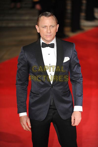 Daniel Craig.'Skyfall' Royal World Film Premiere, Royal Albert Hall, Kensington Gore, London, England..23rd October 2012.half length black tuxedo bow tie white shirt blue.CAP/CAS.©Bob Cass/Capital Pictures.