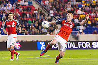 Richard Eckersley (27) of Toronto FC. The New York Red Bulls defeated Toronto FC 4-1 during a Major League Soccer (MLS) match at Red Bull Arena in Harrison, NJ, on September 29, 2012.