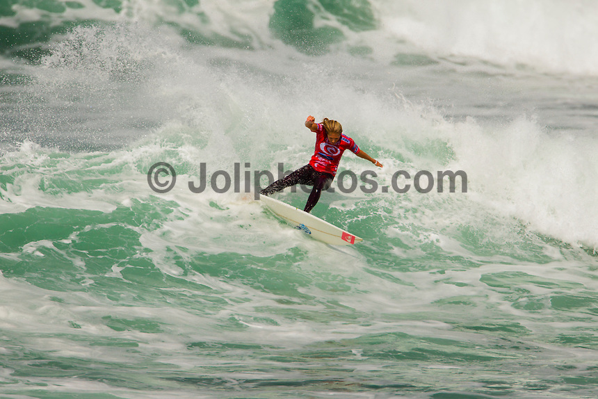 BELLS BEACH, Victoria/Australia (Friday, April 6, 2012)  The Rip Curl Women's Pro Bells Beach presented by Ford Fiesta continued today with clean four-to-six foot (1.5  2 metre) waves steaming through Rincon and the Bells Bowl.. Photo: joliphotos.com