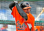 6 March 2009: Baltimore Orioles' second baseman Jolbert Cabrera takes batting practice prior to a Spring Training game against the Washington Nationals at Fort Lauderdale Stadium in Fort Lauderdale, Florida. The Orioles defeated the Nationals 6-2 in the Grapefruit League matchup. Mandatory Photo Credit: Ed Wolfstein Photo