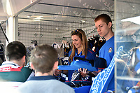 Staff at the Bath Rugby retail shop. The Clash, Aviva Premiership match, between Bath Rugby and Leicester Tigers on April 8, 2017 at Twickenham Stadium in London, England. Photo by: Patrick Khachfe / Onside Images
