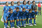 06 August 2008: Japan starting eleven.  The women's Olympic team of New Zealand tied the women's Olympic soccer team of Japan 2-2 at Qinhuangdao Olympic Center Stadium in Qinhuangdao, China in a Group G round-robin match in the Women's Olympic Football competition.
