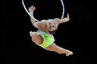 September 20, 2011; Montpellier, France;  EVGENIYA KANAEVA of Russia performs with hoop at 2011 World Championships.