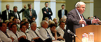 TALLAHASSEE, 6/16/03-Senate President Jim King, R-Jacksonville, speaks as the start of a Senate workshop on medical malpractice insurance rates as an audience of physicians and lobbyists listen Monday at the Capitol in Tallahassee. COLIN HACKLEY PHOTO