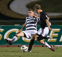 The number 5 ranked Charlotte 49ers play the University of South Carolina Gamecocks at Transamerica field in Charlotte.  Charlotte won 3-2 in the second overtime.  Donnie Smith (9), Snoopy Davidson (11)