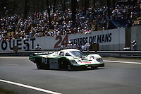 Porsche 956 driven by David Hobbs, Philippe Streiff and Sarel van der Merwe during the 1984 24 Hours of Le Mans auto race.