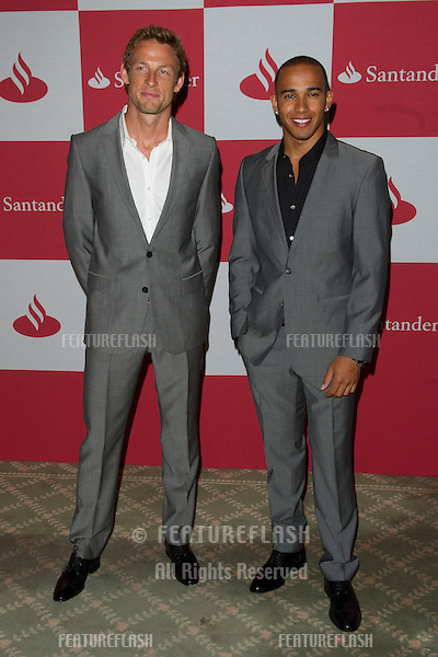 Jenson Button and Lewis Hamilton arriving for The Grand Prix London F1 Party, RAC Club London. 28/06/2012 Picture by: Simon Burchell / Featureflash
