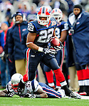 20 December 2009: Buffalo Bills' running back Fred Jackson in action during a game against the New England Patriots at Ralph Wilson Stadium in Orchard Park, New York. The Patriots defeated the Bills 17-10. Mandatory Credit: Ed Wolfstein Photo