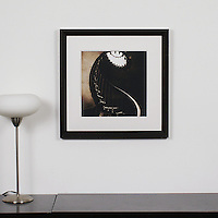 """D'Amore: """"Spiral Staircase"""", Digital Print, Image Dims. 14"""" x 14"""", Framed Dims. 23.25"""" x 23.25"""" , film art"""