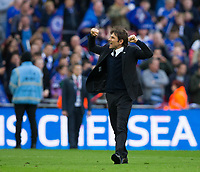 Chelsea manager Antonio Conte celebrates his side's 4-2 victory           <br /> <br /> <br /> Photographer Craig Mercer/CameraSport<br /> <br /> Emirates FA Cup Semi-Final - Chelsea v Tottenham Hotspur - Saturday 22nd April 2017 - Wembley Stadium - London<br />  <br /> World Copyright &copy; 2017 CameraSport. All rights reserved. 43 Linden Ave. Countesthorpe. Leicester. England. LE8 5PG - Tel: +44 (0) 116 277 4147 - admin@camerasport.com - www.camerasport.com