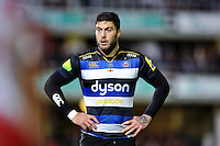 Matt Banahan of Bath Rugby looks on during a break in play. Aviva Premiership match, between Bath Rugby and Gloucester Rugby on February 5, 2016 at the Recreation Ground in Bath, England. Photo by: Patrick Khachfe / Onside Images