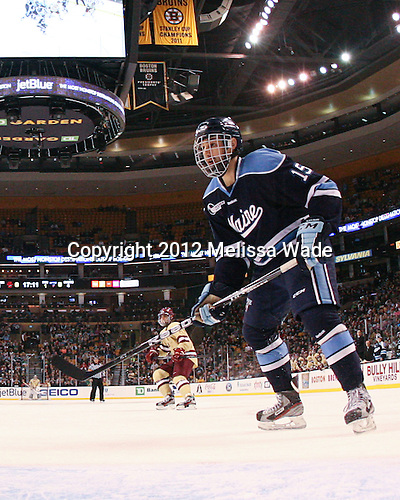 John Parker (Maine - 15) - The Boston College Eagles defeated the University of Maine Black Bears 4-1 to win the 2012 Hockey East championship on Saturday, March 17, 2012, at TD Garden in Boston, Massachusetts.