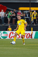 3 JULY 2010:  Chad Marshall of the Columbus Crew (14) during MLS soccer game between Chicago Fire vs Columbus Crew at Crew Stadium in Columbus, Ohio on July 3, 2010.