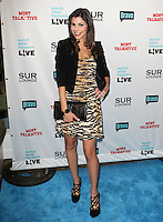 Heather Dubrow.Bravo's Andy Cohen's Book Release Party For &quot;Most Talkative: Stories From The Front Lines Of Pop Held at SUR Lounge, West Hollywood, California, USA..May 14th, 2012.full length black dress orange tiger animal print blazer clutch bag hand on hip.CAP/ADM/KB.&copy;Kevan Brooks/AdMedia/Capital Pictures.