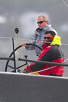 Akatea sailed by Pete Geary and Rodney Keenan lead the fleet out of the Wellington restart of Round North Island two-handed yacht race. Wellington, New Zealand. 2 March 2011. Photo: Gareth Cooke/Subzero Images