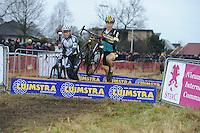 WIELRENNEN: SURHUISTERVEEN: 02-01-2016, Centrumcross, winnaar Corne van Kessel (BEL), ©foto Martin de Jong
