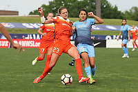 Piscataway, NJ - Saturday May 20, 2017: Cami Privett, Samantha Kerr during a regular season National Women's Soccer League (NWSL) match between Sky Blue FC and the Houston Dash at Yurcak Field.  Sky Blue defeated Houston, 2-1.