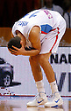 Serbian national basketball team player Marko Keselj reacts during round 1, Group B, basketball game between Serbia and France in Lithuania, Siauliai, Siauliu arena, Eurobasket 2011, Monday, September 5, 2011. (photo: Pedja Milosavljevic/SIPA PRESS)