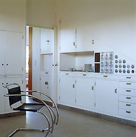 "The kitchen is an example of the revolutionary and functional  ""Frankfurt Kitchen"" first conceived in 1926 by Margarete Shutte-Lihotsky which was the precursor to the modern domestic fitted kitchen"