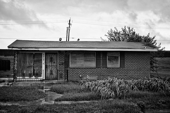 Abandoned house in Pontchartrain Park in Gentilly, New Orleans - five years later after Hurricane Katrina.