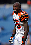 4 November 2007: Cincinnati Bengals wide receiver Chad Johnson stretches out prior to a game against the Buffalo Bills at Ralph Wilson Stadium in Orchard Park, NY. Johnson was injured in the final minutes of the game and had to be carted off the field. The Bills defeated the Bengals 33-21 in front of a sellout crowd of 70,745...Mandatory Photo Credit: Ed Wolfstein Photo